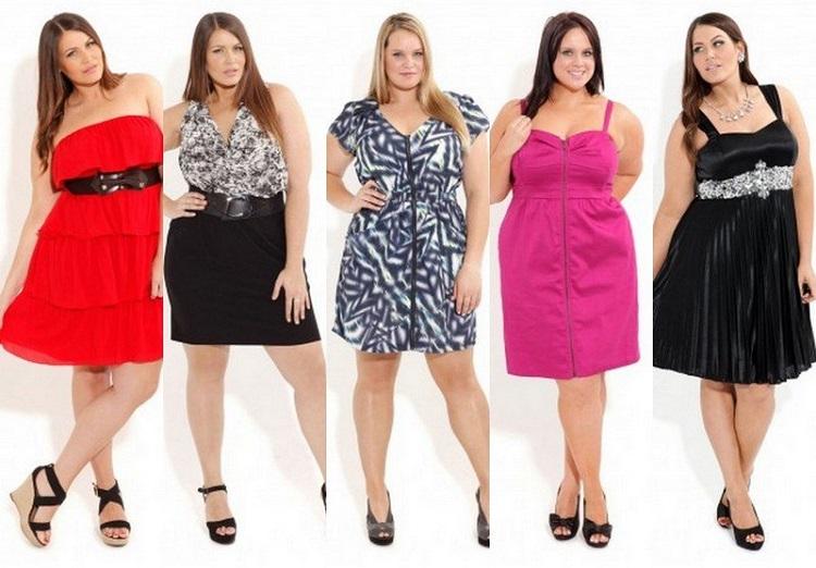 Оригинальные платья для полных женщин - варианты моделей с фото