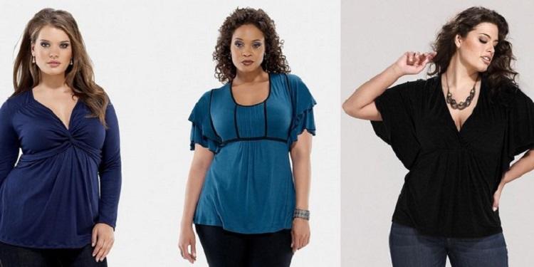 Как выбрать блузку для полных девушек - варианты с фото