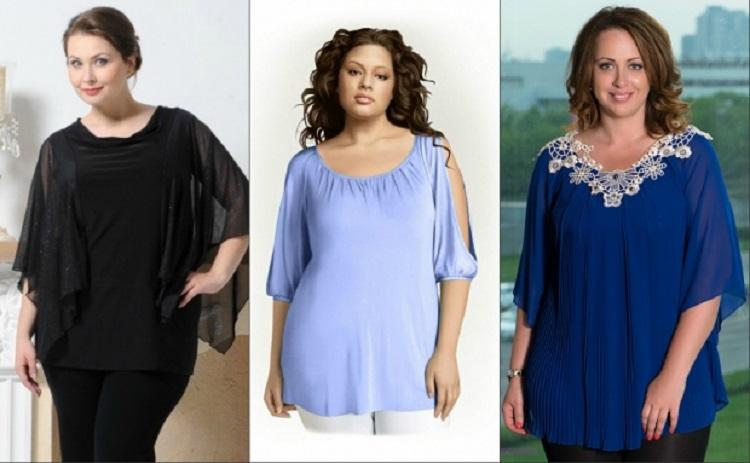 Какой должна быть длина блузки для полных женщин