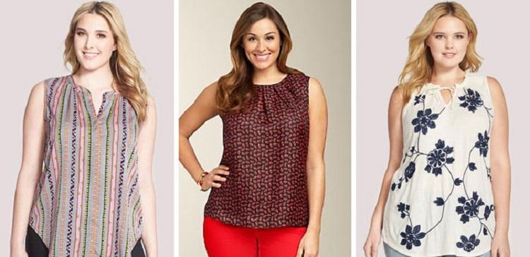 Красивые блузки для полных женщин - летний вариант