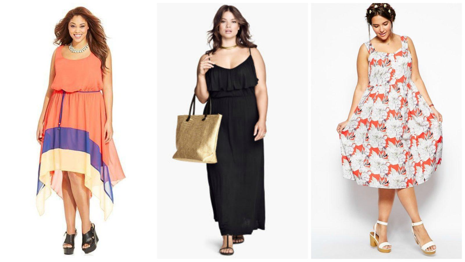 Летние платья для полных девушек и советы по завершению образа