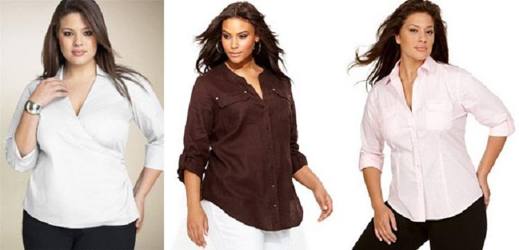 Мода для полных женщин - как выбрать подходящую блузку