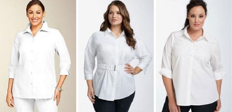 Офисные блузки для полных женщин - как правильно подобрать наряд