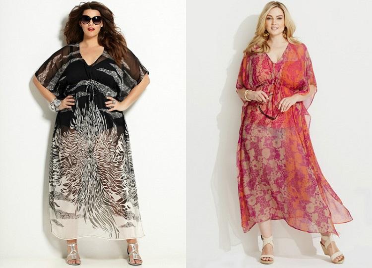 Пляжные летние платья для полных женщин - выбираем фасон