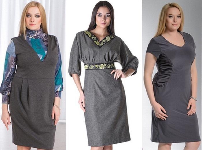 Сарафаны для полных женщин из коллекции осень-зима