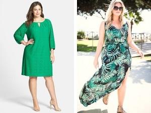 Советы по выбору летних платьев для полных женщин - как выбрать материал
