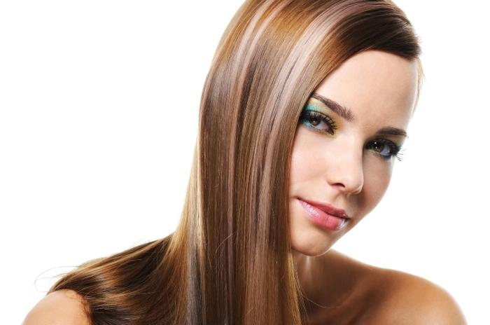 Редкое мелирование на темные волосы: фото