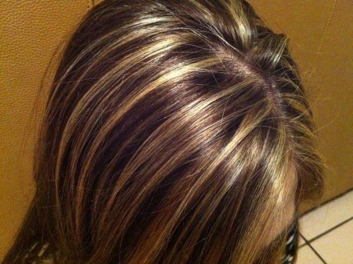 Мелкое мелирование на темные волосы: фото
