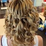 Как делается прическа водопад на средние волосы?