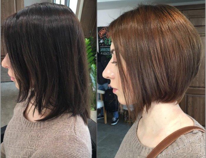 Венецианское мелирование коротких волос