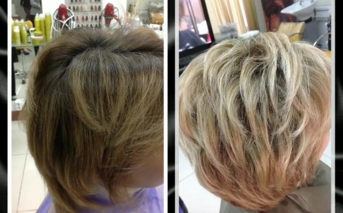 Как сделать красивое колорирование на короткие волосы, фото до и после