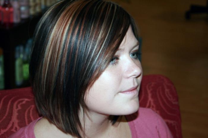Мелирование на темные волосы: цветное