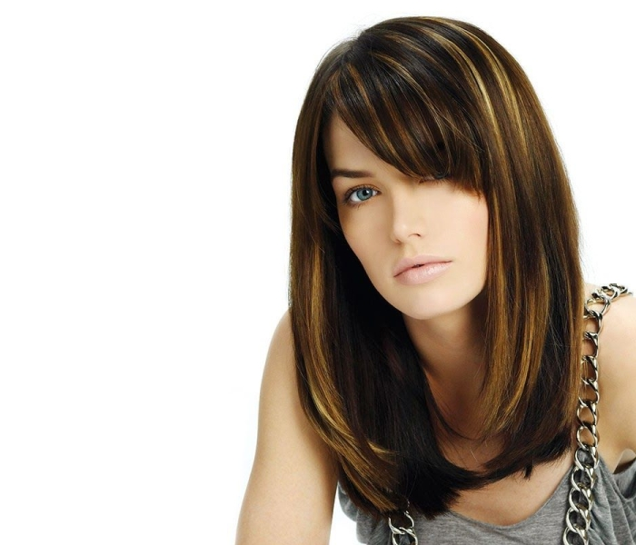 Мелирование на темные волосы: классическое