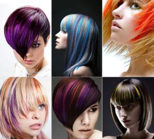 Креативное мелирование на короткие волосы