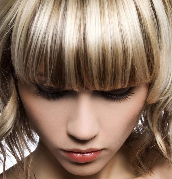 Мелирование на короткие волосы с челкой