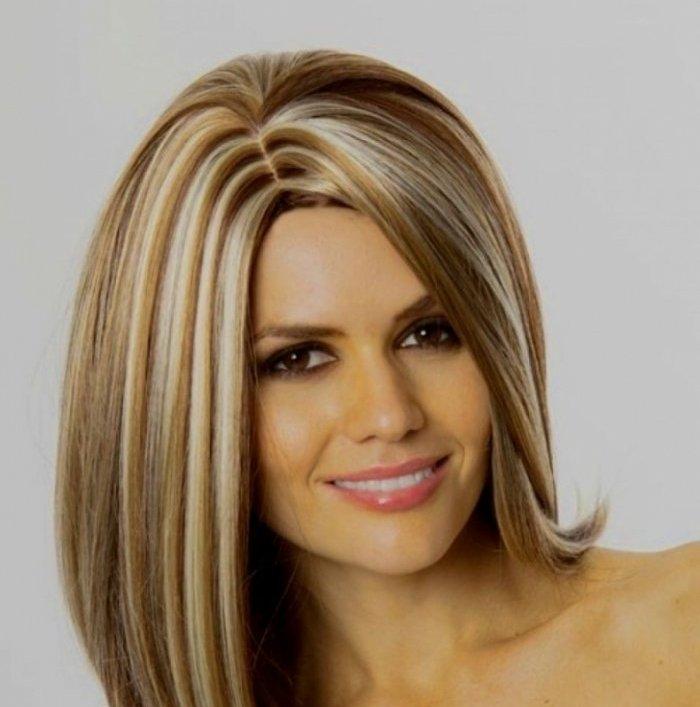 Мелирование светлых волос темными прядями