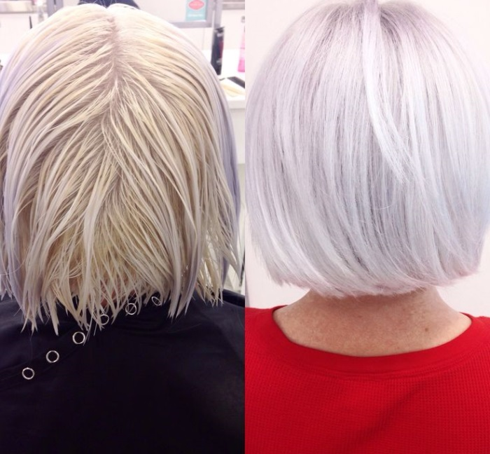 Тонирование волос в домашних условиях - на обесцвеченые волосы