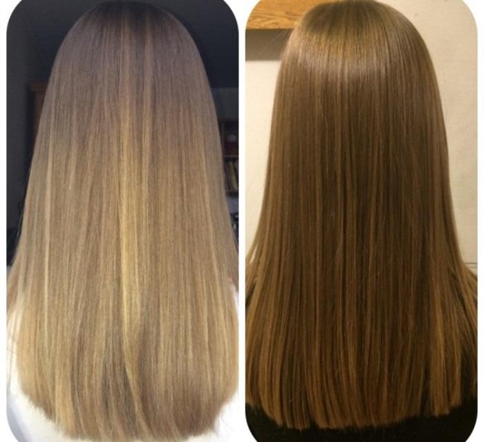 Тонирование волос в домашних условиях на светлые волосы