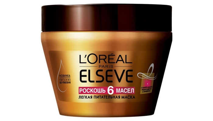 Масло для сухих и поврежденных волос: маска «Роскошь 6 масел» от L'Oreal Paris Elseve