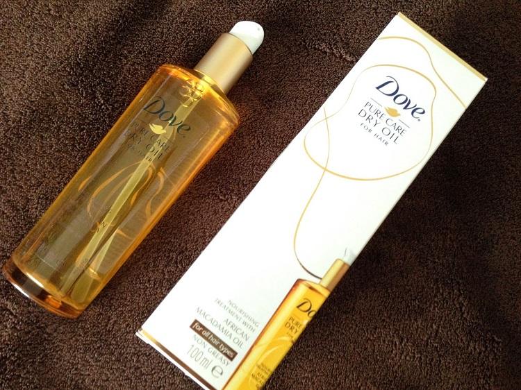 Dove Dry Oil - несмываемое масло для ухода за поврежденными волосами