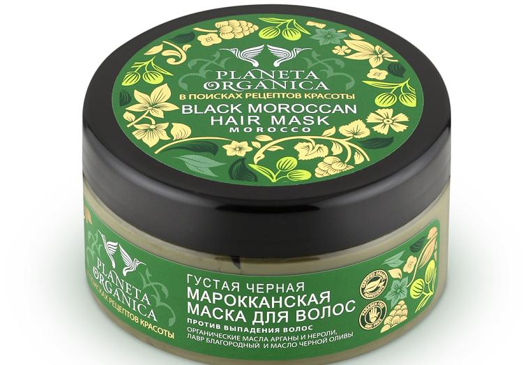 Planeta Organica Густая черная Марокканская маска для волос