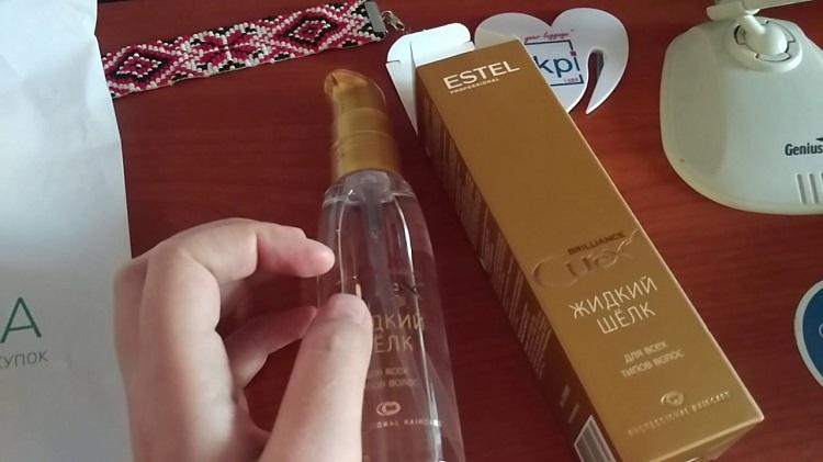 Жидкий шелк - популярное средство для ухода за волосами от компании Эстель