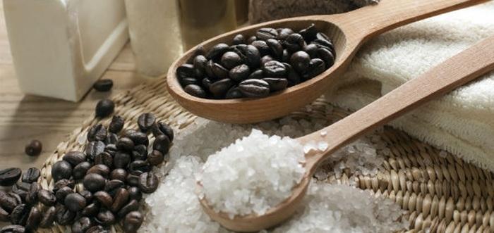 Скраб для лица из кофе и соли