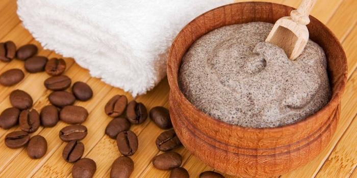 Молочный скраб для лица из кофе