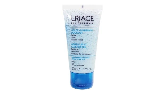 Скраб для сухой и чувствительной кожи лица: Uriage Gelle Gomante