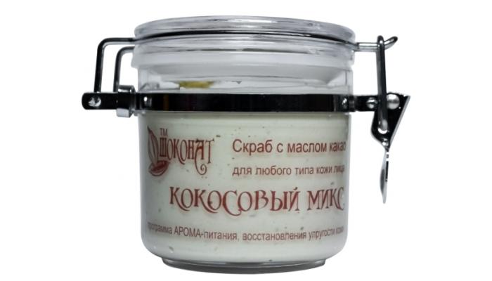 Лучший скраб для лица: кокосовый от Шоконат