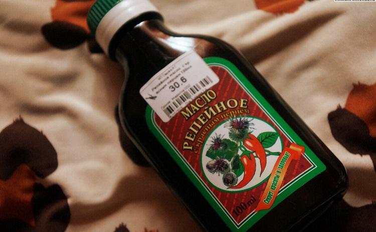 Репейное масло с красным перцем от производителя Мирролла