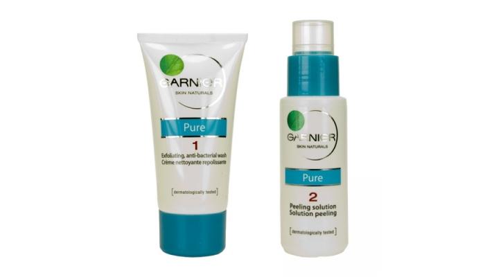Средства для пилинга: «Чистая кожа Актив» от Garnier