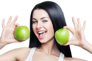 Маска для лица с яблоком и медом