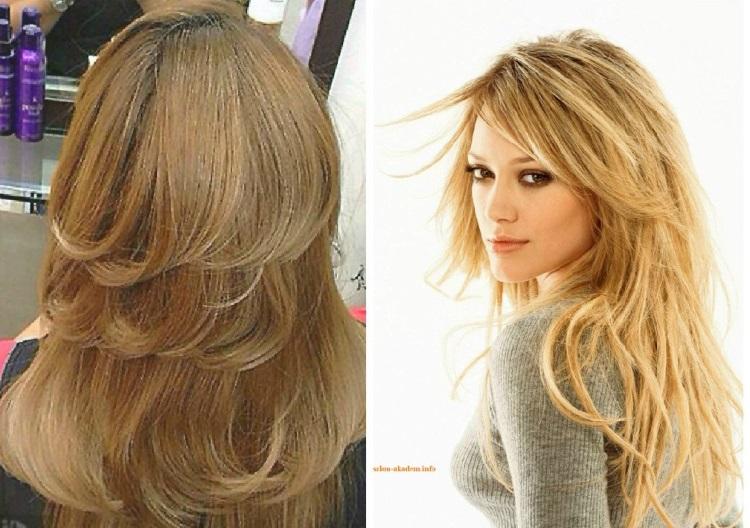 Каскад: тройная стрижка на длинные волосы