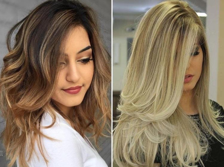 Каскад: стрижка на длинные волосы без челки