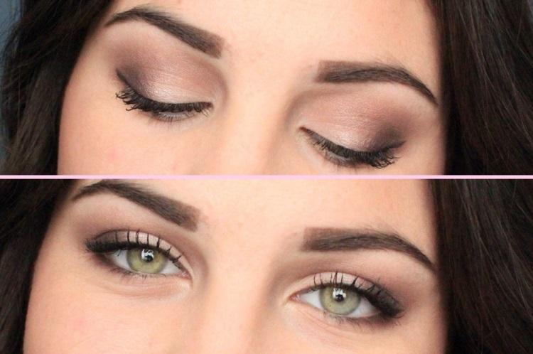 Зеленые глаза: нежный макияж