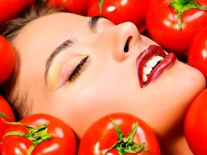 Увлажняющая маска для лица из помидоров