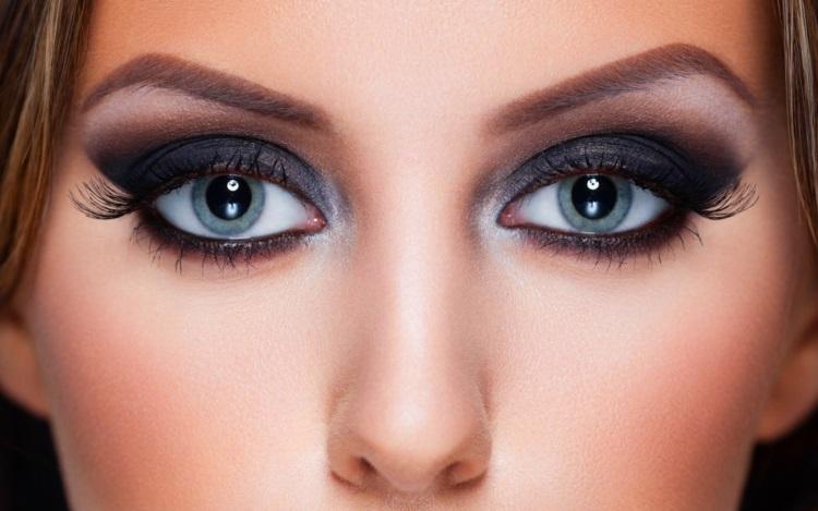Серые глаза: макияж