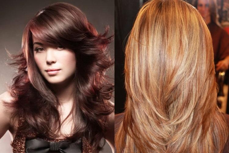 Каскад: ступенчатый и плавный на длинные волосы