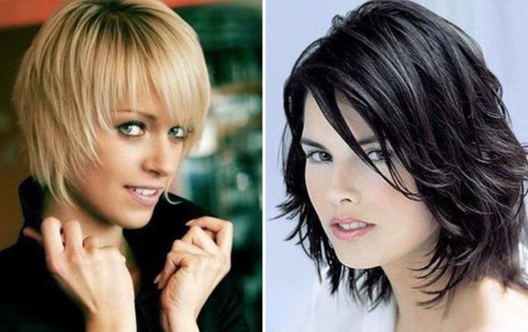 Каскад: стрижки для тонких и редких волос