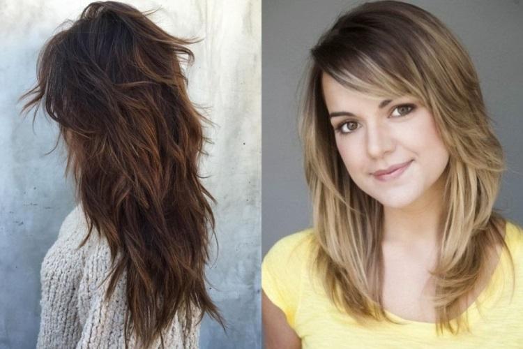 Длинные волосы - рваная стрижка