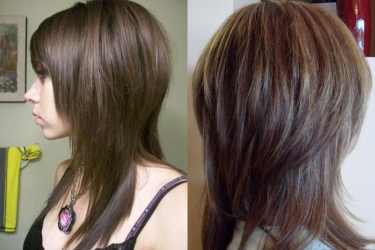 Двойной каскад: стрижка на средние волосы