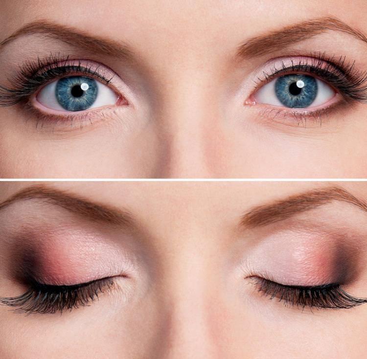 Тени: варианты для голубых глаз