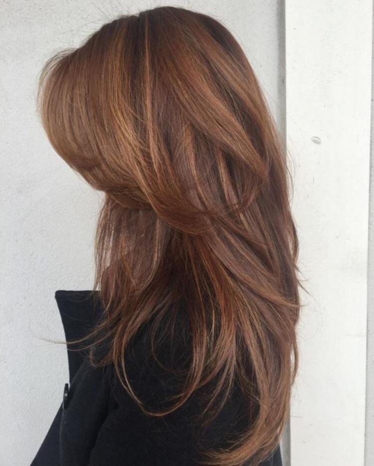 Каскад: стрижка на длинные волосы