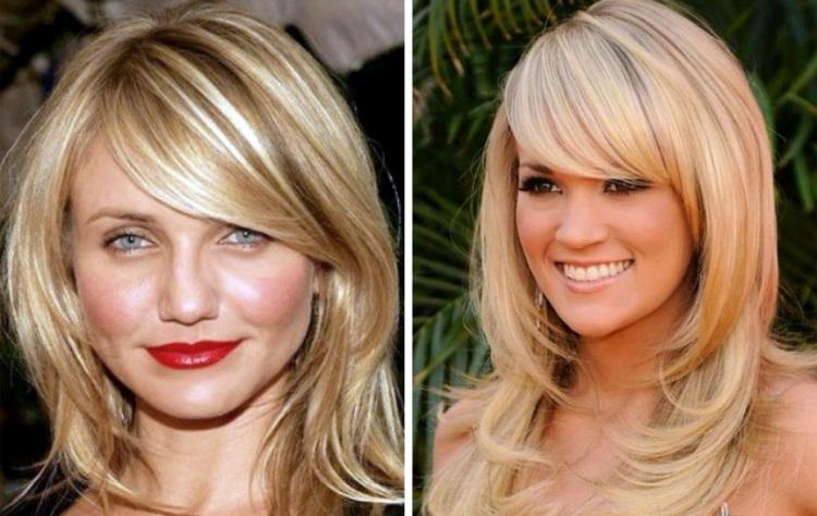 Каскад: стрижка для круглого лица на разную длину волос