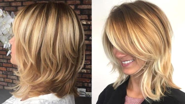 Каскад: оригинальная стрижка на средние волосы