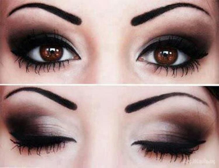 Карие глаза: как сделать макияж