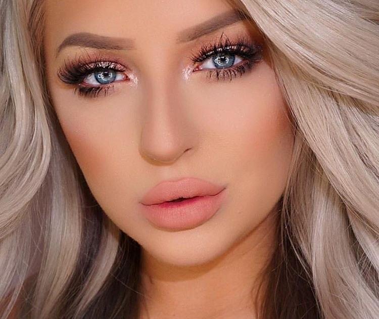 Блондинки: макияж в стиле нюд