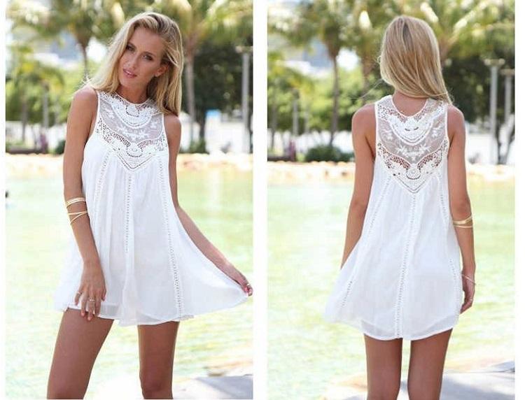 С чем носить белое кружевное платье - повседневный образ