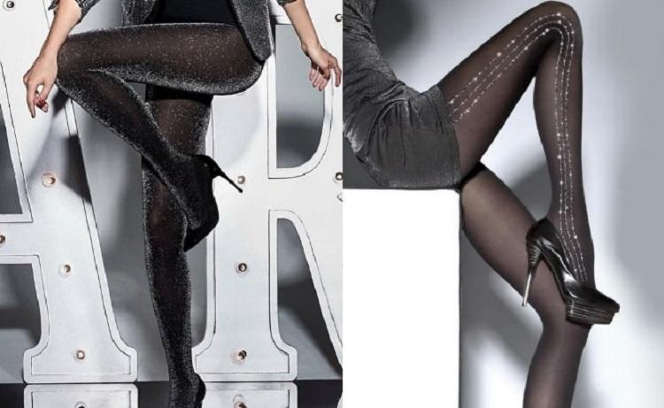 Модные и стильные колготки с люрексом